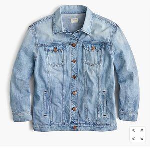 J.Crew oversized denim jacket size M